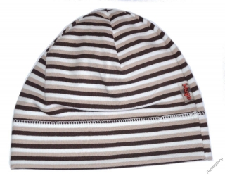 68390f2e0bf Karpet Hugo 03 čepice bavlna pruhy F hnědá+bílá empty